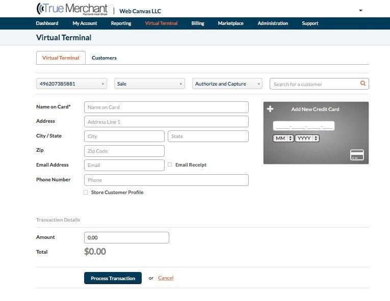 Virtual-terminal-creditcard-processing