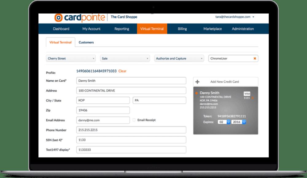 CardPointe Virtual Terminal
