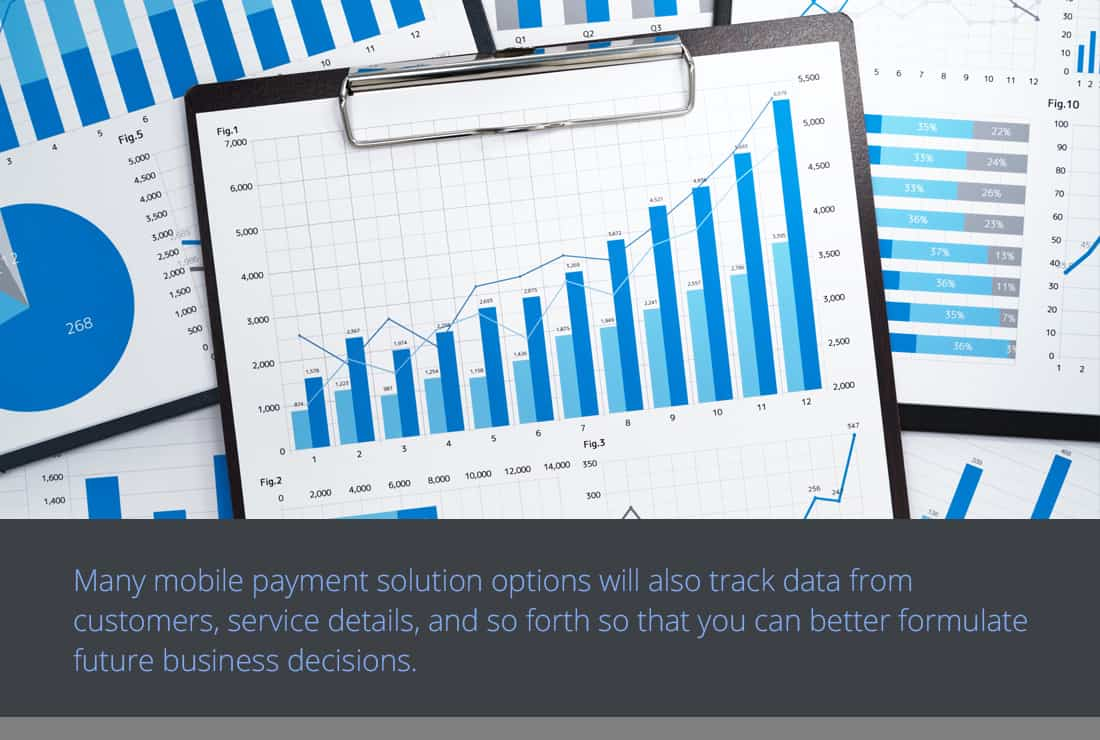 Mobile payment solutions graphics